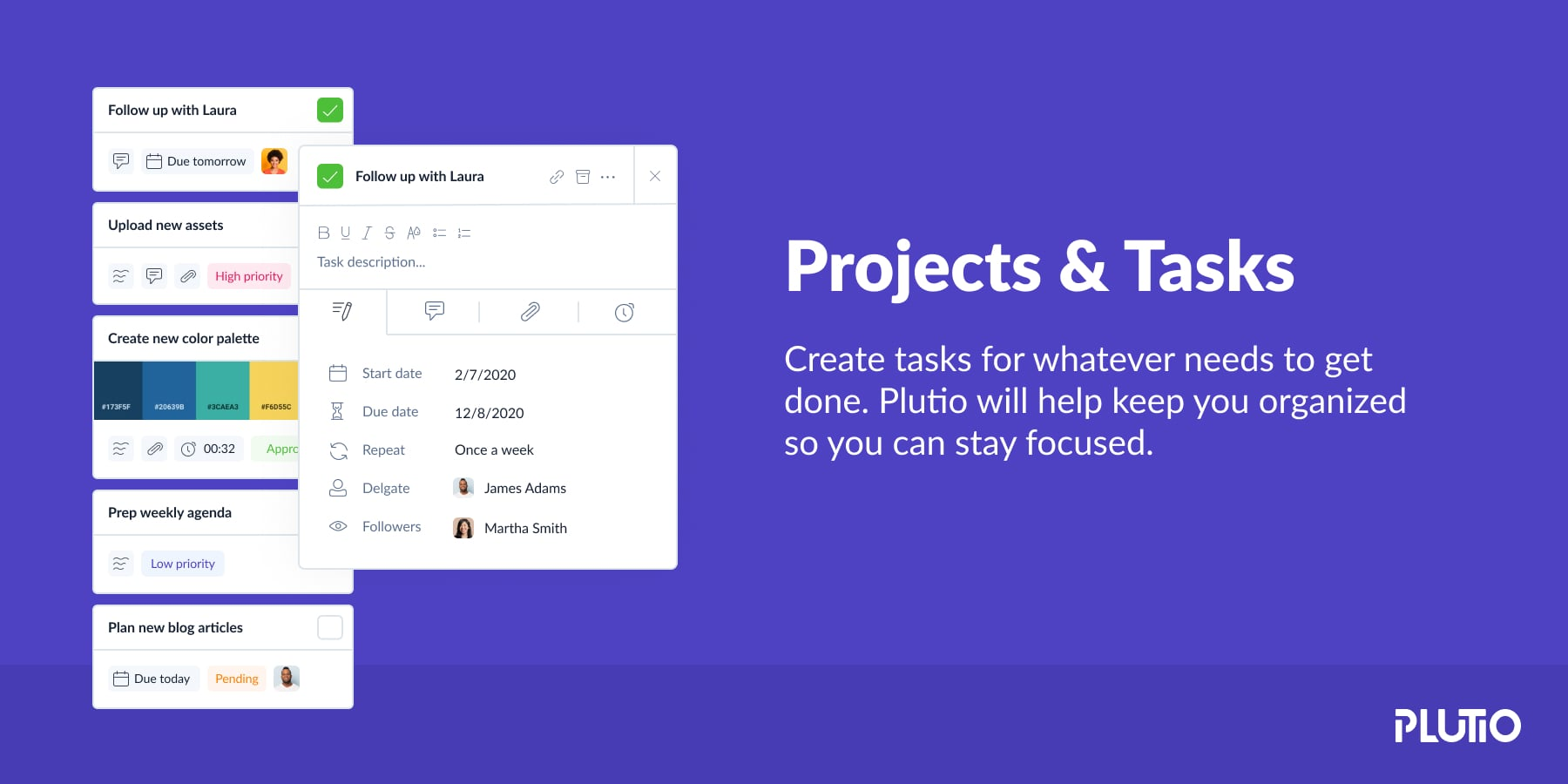 plutio project and tasks banner