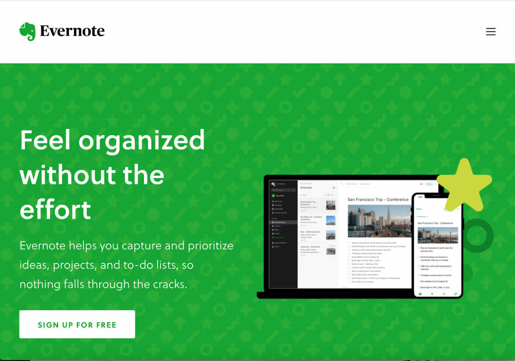 Evernote free apps - feel organized without the effort