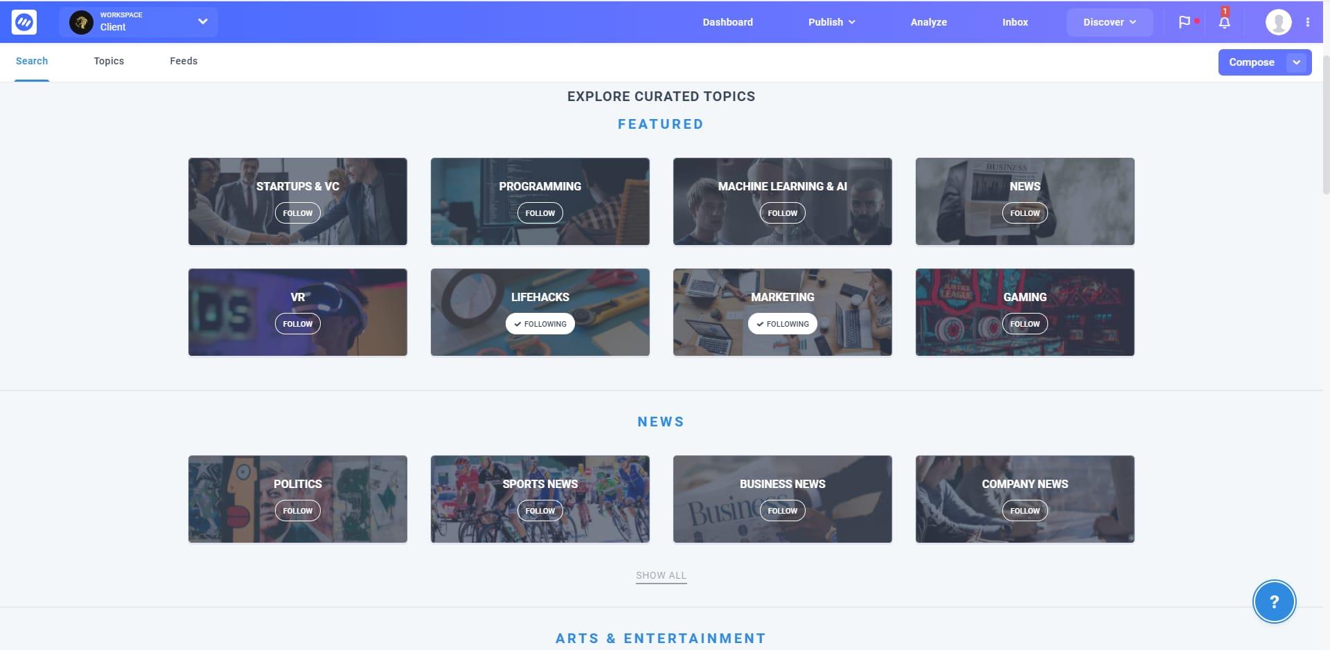 contentstudio content feed